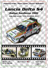 RSC-008 Lancia Delta S4 Jolly Club Totip Cerrato Cerri SanRemo Group B papercraf