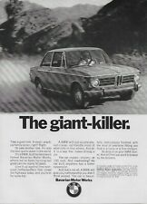 1970 BMW Sedan The Giant Killer Original Vintage Print Ad