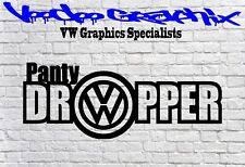 VW PANTY DROPPER Vinyl Decal Sticker EURO JDM DUB VW Funny T6 T5 T4 BEETLE VDUB