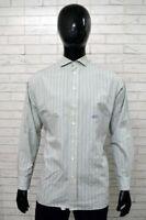 Camicia CASTELBAJAC Uomo Taglia Size XL Chamise Shirt Man Cotone Casual a Righe
