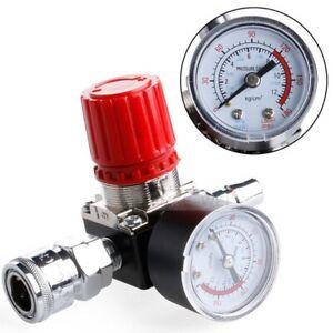 1/4 Druckminderer für Kompressoren & komplett mit Manometer Neu