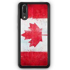 Huawei P20 SILIKON Hülle Kanada Grunge Canada Motiv Design Handyhülle Schutzhül