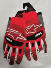 ALPINESTARS TECHSTAR MOTOCROSS GLOVES  LARGE ADULT RED BLACK RM RMZ SX CR