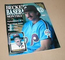 MIKE SCHMIDT & CORY SNYDER BECKETT BASEBALL CARD MONTHLY PRICE GUIDE APRIL 1987