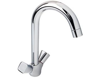 Hansgrohe Logis Square Knobs Handle Kitchen Sink Mixer Swivel Spout Tap 71280000