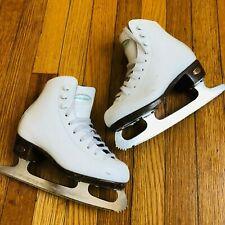 Riedell Figure Ice Skates Blades Girls Size 9.5 White