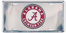 ALABAMA CAR TAG CHROME LICENSE PLATE CRIMSON TIDE METAL SIGN UNIVERSITY