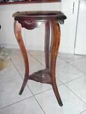 sellette guéridon porte plante 1920 en bois et terre cuite  H. 70 cm