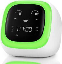 Children's Sleep Trainer Night Light Sound Machine Timer Alarm Clock Wake Up Kid