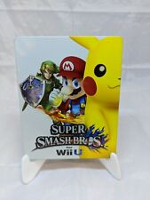 Super Smash Bros Wii U 2014 Steelbook Case Only No Game Included