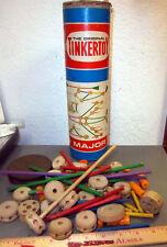 Vintage the Original Tinkertoy Major container, some still left inside, fun item