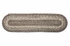 "IHF Home Decor Stair Tread Braided Rug Oval 8""x28"" Ashwood Jute Fabric"