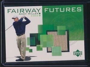 2003 Upper Deck Golf Fairway Futures Shirt Relic Andy Miller
