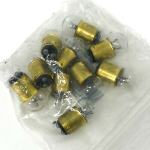 Wagner 624 Miniature Lamp Bulb G-6, 28V 0.37A 6 CP, Clear, T624, 10 pcs