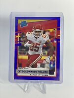 2020 Donruss Clyde Edwards-Helaire Rated Rookie RC Blue Press Proof SP Chiefs 📈