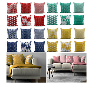 Geometrical 3D Digital Printing Stylish Cushion Covers Only or Inners Sofa Decor