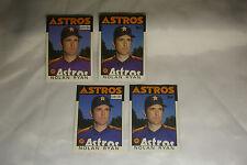 Lot 4 Nolan Ryan 1986 Baseball Cards Blue + Rare Purple Varieties O Pee Chee OPC