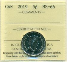 2019 Canada Business Strike 5 cent ICCS MS-66