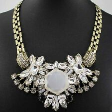 Fashion pentand Crystal Bib Statement charm chunky colorful collar Necklace 433