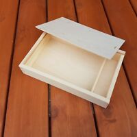 WOODEN BOX WHIT SLIDING LID 29 x 19 x 5.2 cm FOR PHOTOS AND PEN DRIVE