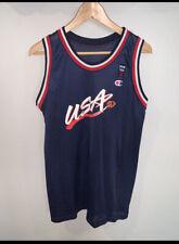 Vtg Usa Olympics Dream Team Ii Blank Basketball Jersey - Champion - Youth Xl L