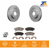 Front Coated Disc Rotors & Ceramic Brake Pads Fits Chevrolet Uplander Pontiac