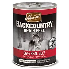 Merrick Backcountry Real Beef Recipe Pet Food, 12.7-Ounce, 12-Pack