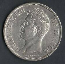 QUALITE MONNAIE / ECU 5 FRANCS CHARLES X ARGENT 1829 W @ LILLE @ SILVER COINS