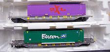 """Kombimodell 20340.22/02 Taschenwagen-Set T4.1 & T4.0 Hupac """"Eucon/2XL"""""""