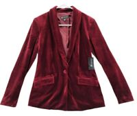 INC International Concepts Women's Red Velvet Jacket Size XS