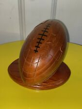 Wooden 3D Rugby Ball Puzzle. Brain Teaser. Decor. Sporty Gift.