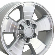 "17"" Rim Fits Toyota 4Runner Tacoma Tundra TY09 Silver Mach'd Face 69429 17x7.5"