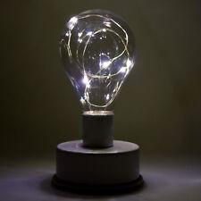 (191) LED Tischlampe mit Lichterkette 5 LEDs Glühlampe Deko Lampe Tischleuchte