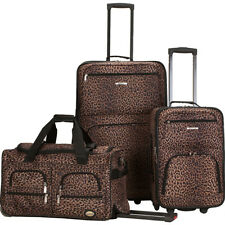 Rockland Luggage Spectra 3-Piece Luggage Set - Leopard