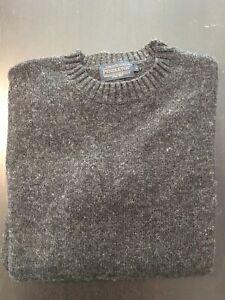 Pendleton Wool Crew Neck Sweater ** Dark Grey ** Men's Size S Gray