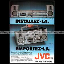 JVC PC-5L RADIO-CASSETTE BOOMBOX GHETTO BLASTER VINTAGE 1981 - Pub / Ad #A1448
