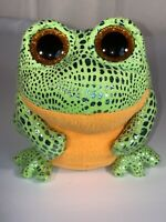 "6"" TY Beanie Boo's Glitter Eyes Speckles the Frog Irridescent Orange & Green"