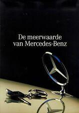 Mercedes Prospekt NL meerwarde van MB brochure 8/91 1991 Auto PKW Verkehr Europa