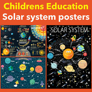 KIDS SPACE AND PLANETS EDUCATIONAL POSTERS UPTO A0 SIZE,  FRAMES AVAILABLE