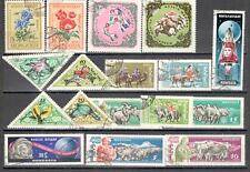 R9921 - MONGOLIA 1961 - LOTTO 17 TEMATICI DIFFERENTI DEL PERIODO - VEDI FOTO