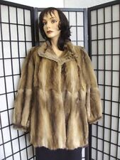 NEW SHOWROOM BASSARICK (SIMILAR TO MUSKRAT) FUR JACKET COAT WOMEN WOMAN SZ 8 M