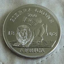 SIERRA LEONE GEORGE III 1808 ALUMINIUM PROOF PATTERN CROWN  - coa