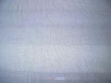 POLY/ COTTON NARROW  PINSTRIPE SHIRTING--WHITE/GREY-DRESS FABRIC-FREE P&P