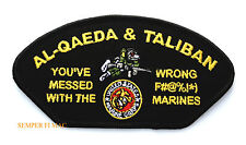 YOU'VE MESSED WITH THE WRONG US MARINES HAT PATCH EGA BULLDOG AL-QAEDA TALIBAN