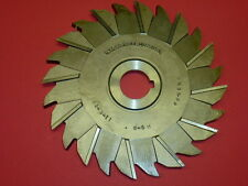 "NOS! UNION HS-G SIDE STAGGERED TOOTH MILLING CUTTER, 6"" x 19/64"" x 1"", USA"