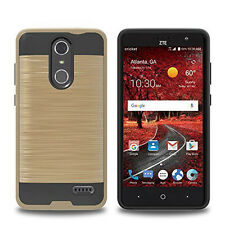 For ZTE Grand X4 Case, [Metal Brushed Texture] Shockproof Protective Phone Cover
