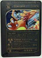 Pokemon Crystal Charizard 146/144 Black Steel Metal Custom Card Proxy Orica