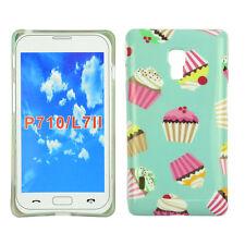 Hülle f LG P710 Optimus L7 II Schutz Tasche Case Cover Etui Handy Cupcake Muffin