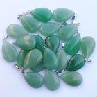Wholesale 50pcs/lot Natural Green Aventurine stone Water drop Pendants Beads