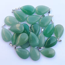 Wholesale 50pcs/lot Natural Green Aventurine stone Water drop Pendants Beads